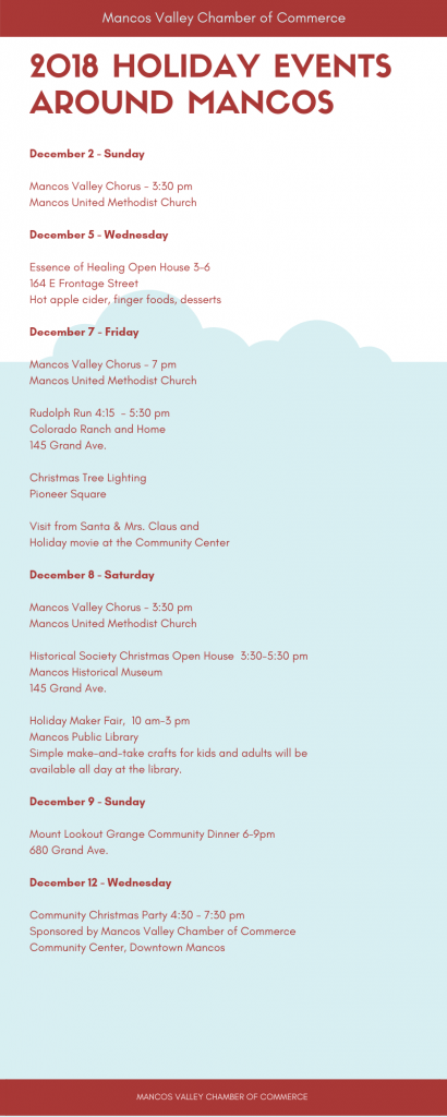 Mancos Holiday Events
